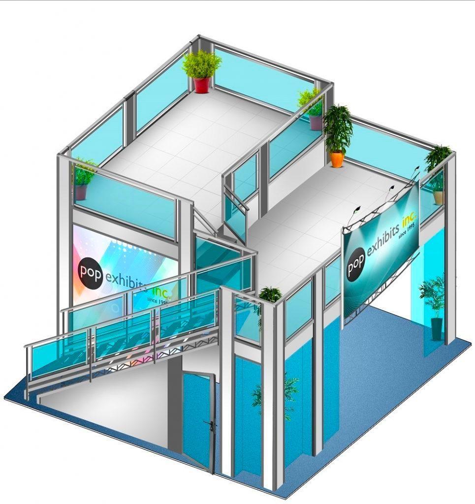 15x18-Split-level-double-deck-exhibit Anaheim