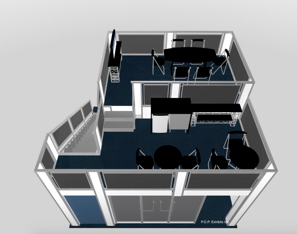 15x18 split level double deck exhibit Anaheim