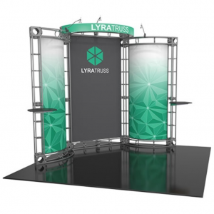 Lyra 10x10 truss exhibit