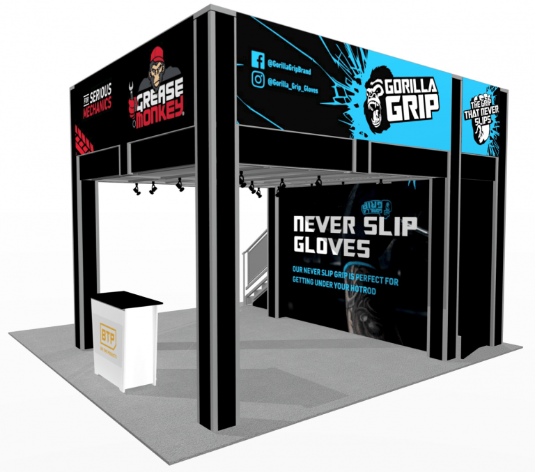 13 x 13 Two Story Booth with graphics
