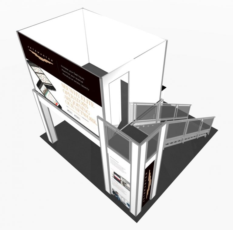 top view of Double deck exhibit rental