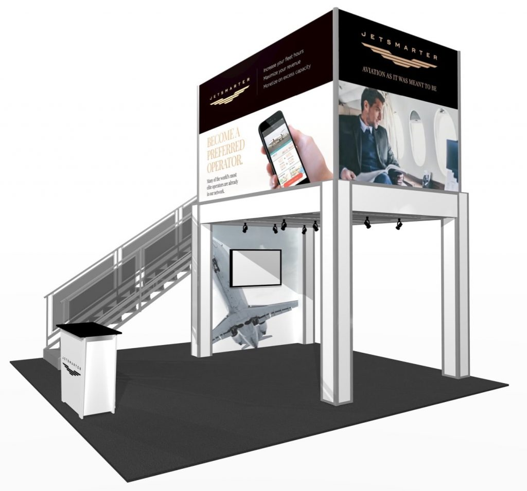 9' x 13' New Double deck exhibit design with office