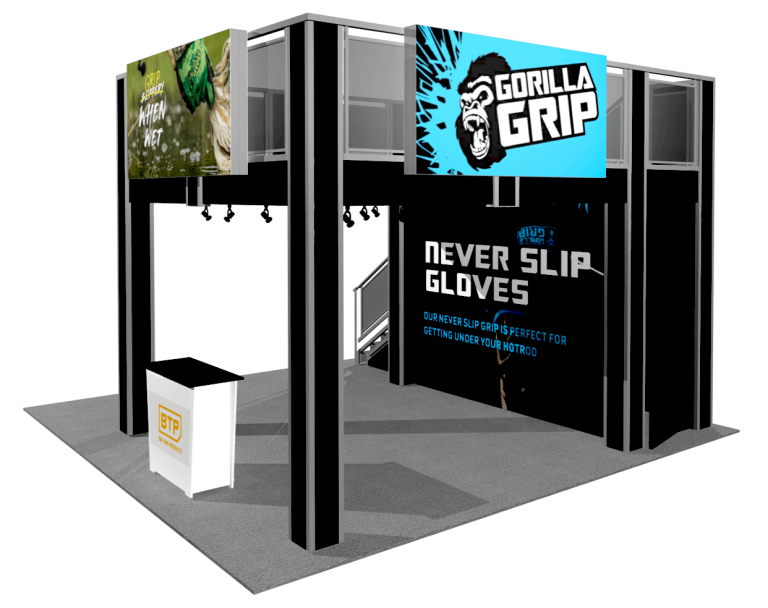 13 x 13 Double Deck Exhibit with Lightbox