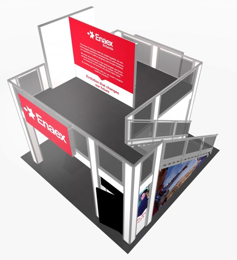 TURNKEY DOUBLE DECK EXHIBIT LIGHTBOX E