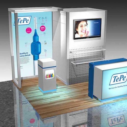 10' booth rental las vegas